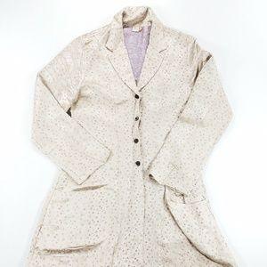 Ohm Rayon Silk Blend Blazer Cardigan Sweater Coat